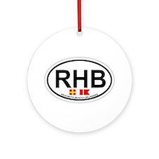 Rehoboth Beach DE - Oval Design Ornament (Round)