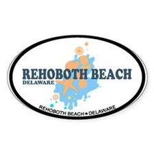 Rehoboth Beach DE - Seashells Design Decal