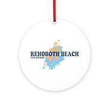 Rehoboth Beach DE - Seashells Design Ornament (Rou