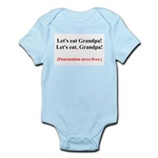 Let's Eat Grandpa! Infant Bodysuit