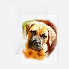 Mastiff puppy portrait Greeting Card
