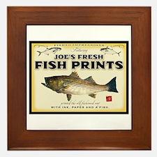 Joe's fish prints Framed Tile