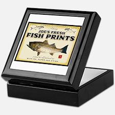 Joe's fish prints Keepsake Box