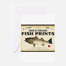 Joe's fish prints Greeting Card