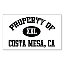 Property of Costa Mesa Rectangle Decal