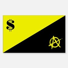 Anarcho-Capitalist Flag Decal