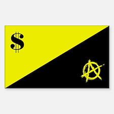 Anarcho-Capitalist Flag Sticker (Rectangle)