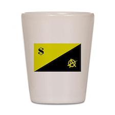 Anarcho-Capitalist Flag Shot Glass