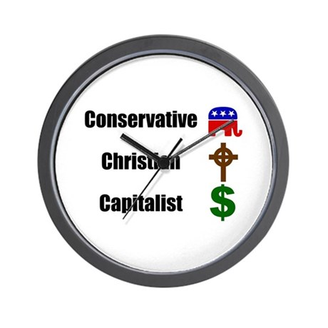 Christian Conservative Wall Clock