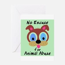 Unique Animal abuse Greeting Card
