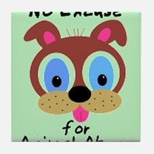 Cute Animal abuse Tile Coaster