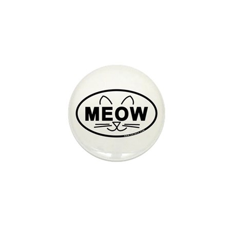 Meow Oval Mini Button (10 pack)
