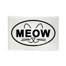 Meow Oval Rectangle Magnet (100 pack)