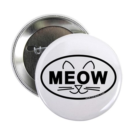 """Meow Oval 2.25"""" Button (100 pack)"""