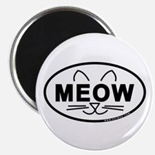 Meow Oval Magnet