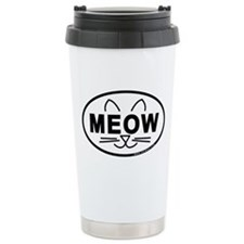 Meow Oval Travel Mug