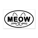 Meow Oval 22x14 Wall Peel