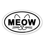 Meow Oval Sticker (Oval 50 pk)