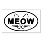 Meow Oval Sticker (Rectangle)