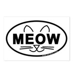 Meow Oval Postcards (Package of 8)