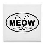 Meow Oval Tile Coaster