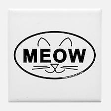 Meow Oval Tile Coaster
