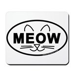 Meow Oval Mousepad