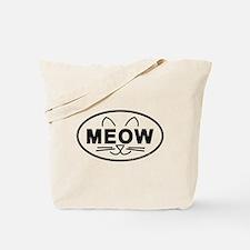 Meow Oval Tote Bag