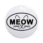 Meow Oval Ornament (Round)