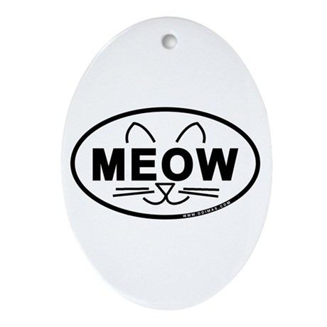 Meow Oval Ornament (Oval)