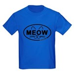 Meow Oval Kids Dark T-Shirt