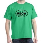 Meow Oval Dark T-Shirt