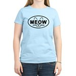 Meow Oval Women's Light T-Shirt
