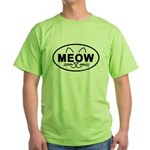 Meow Oval Green T-Shirt