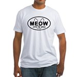 Meow Oval Fitted T-Shirt