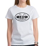 Meow Oval Women's T-Shirt