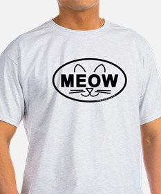 Meow Oval T-Shirt