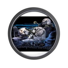 Cute Sea otter Wall Clock