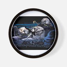 Unique Sea otter Wall Clock