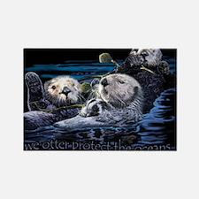 Unique Otters Rectangle Magnet