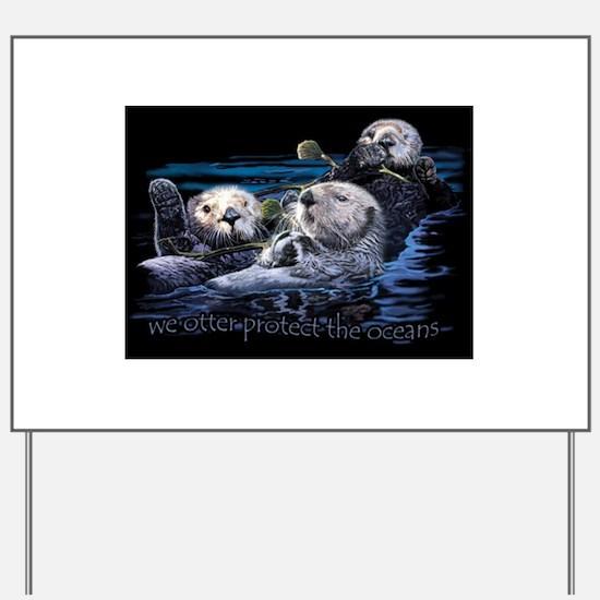 Cute Sea otter Yard Sign