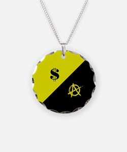 Anarcho-Capitalist Flag Necklace