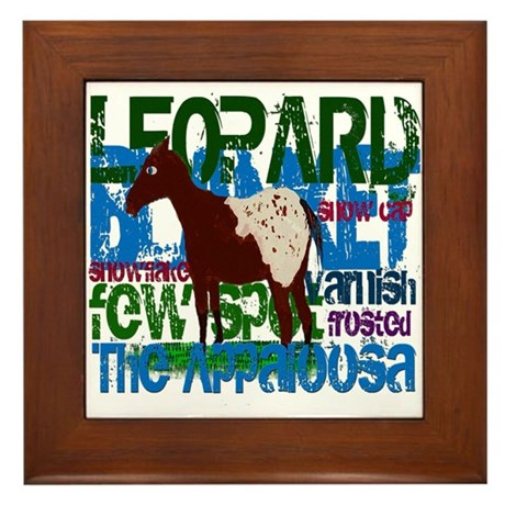 The Appaloosa Framed Tile