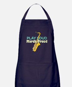 Play Loud March Proud Sax Apron (dark)