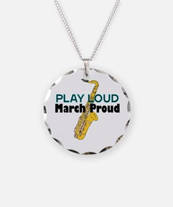 Play Loud March Proud Sax Necklace