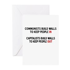 Communists vs. Capitalists Greeting Cards (Package