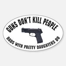 Guns Don't Kill People Bumper Stickers