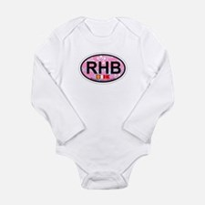 Rehoboth Beach DE - Oval Design Long Sleeve Infant