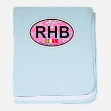 Rehoboth Beach DE - Oval Design baby blanket