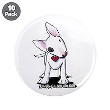 """Bull Terrier Spot 3.5"""" Button (10 pack)"""